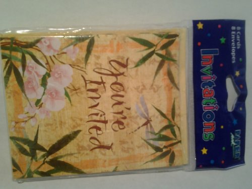 Asian Dragonfly Invitations Cards & Envelopes 8ct - 1