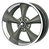 "Ridler Style 695 695 Grey Wheel with Machined Lip (18x9.5""/5x120.65mm)"