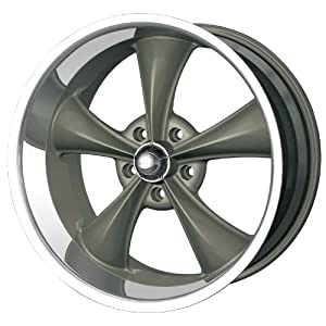 "Ridler Style 695 695 Matte Black Wheel with Machined Lip (20x8.5""/5x127mm)"
