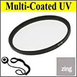 Big Mike'S 52Mm Multi-Coated Uv Protective Filter For Nikon 18-55Mm F/3.5-5.6G Ed Af-S Dx Nikkor Zoom Lens + Cap Keeper + Microfiber Cleaning Cloth