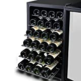 28 Bottle CounterTop Wine Cooler, Kalamera Freestanding Thermoelectric Refrigerator with Digital Temperature Display