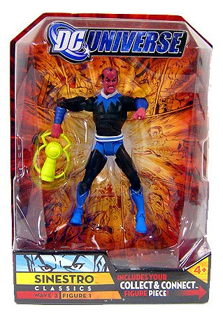 Buy Low Price Mattel DC UNIVERSE CLASSICS FIGURE SINESTRO BLUE / BLACK COLOR VARIANT (B001LR7WS4)