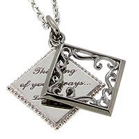 [ラバーズシーン]LOVERS SCENE ブラックカラー アラベスクフレーム ダイヤモンド シルバーネックレス ( 専用 ギフト BOX セット ) LSP0089DBRM