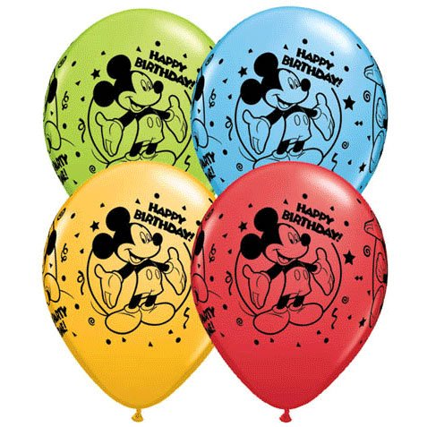 "11"" Mickey Happy Birthday Arou - 1"