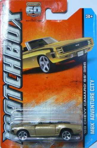 2013 Matchbox MBX Adventure City - '69 Chevy Camaro SS 396 Convertible - 1