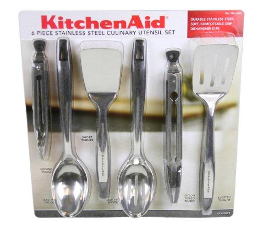 Kitchenaid 6 piece stainless steel culinary utensil set ebay for Kitchenaid 6 set