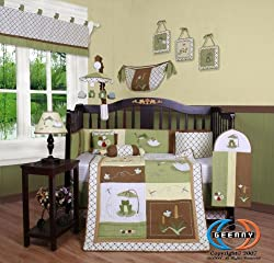 Boutique Brand New GEENNY Leap Froggy Froggie 13PCS CRIB BEDDING SET