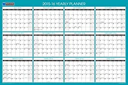 Blue Sky 2015-2016 Academic Year and 2016 Regular Year Laminated Erasable Calendar Planner, Professional, 36 x 24 Inches (16690)