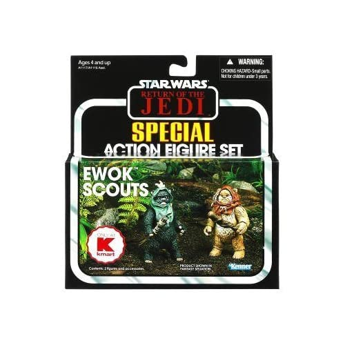 Star Wars Vintage 2012 - Ewok Scouts (Widdle Warrick & Wunka) - Kmart Exclusive by Hasbro TOY (English Manual)