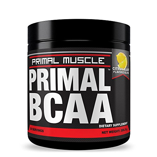 PRIMAL-BCAA-Drink-Mix-Build-Lean-Muscle-Mass-Recover-From-Workouts-Fast-Reduce-Body-Fat-Levels-And-Maximize-Endurance-Citrus-Blast-Flavor-Money-Back-Guarantee