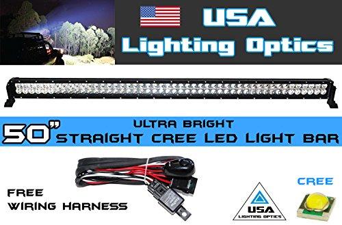 50 Inch 300W Cree Led Light Bar By Usa Light Optics Tm Spot Flood Combo Beam Off Road 4X4 Radius Fog, Jeeps, Truck, Utv Suv 4Wd