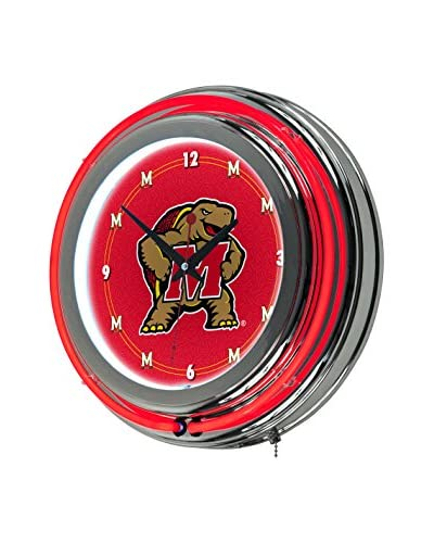 Trademark Global Maryland University Neon Clock