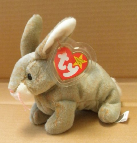 TY Beanie Babies Nibbly the Rabbit Stuffed Animal Plush Toy - 6 inches long - 1