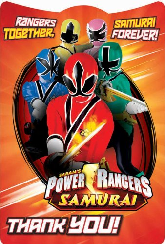 Power Rangers Samurai Thank-You Notes Party Accessory