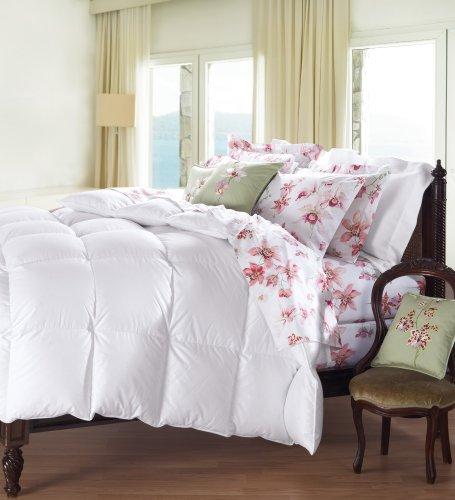 Cuddledown 800 Fill Power Batiste Down Comforter, Oversize King, Level 2, White front-145324