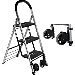 Pearstone PSL3S 3-Step HD Photographers Ladder With Wheels