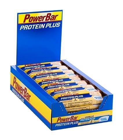 Powerbar Protein Plus Reduced in Carbs Riegel, Vanille, 1er Pack (1 x 30 Stuck)