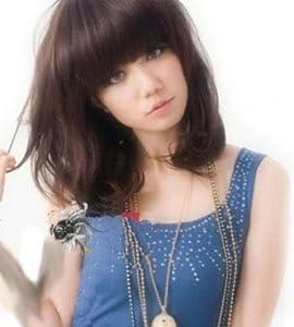 Cool2day Women's Short Curly Wig+wig Cap (Model: Jf010190) (Dark Brown)