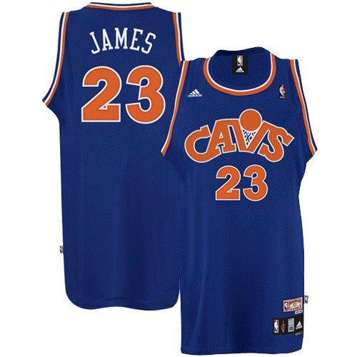 4d657d291 adidas Cleveland Cavaliers  23 LeBron James Royal Blue Throwback Basketball  Jersey Review