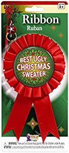 Forum Novelties Women's Award Ribbon For Ugliest Christmas Sweater from Forum Novelties Costumes