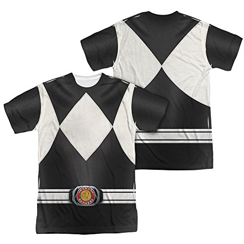 Power Rangers Children's Live Action TV Series Gray Costume Adult 2-Side Print T