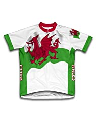 Wales Flag Short Sleeve Cycling Jersey for Women