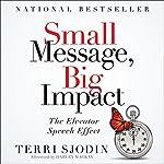 Small Message, Big Impact: The Elevator Speech Effect | Terri L. Sjodin