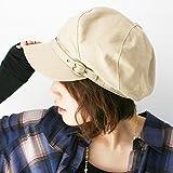 ピースクロージング 飾りベルト付き キャスケット コットン BM レディース 帽子 春夏 秋冬 UVカット 紫外線対策 シンプル つば付 カジュアル ベージュ