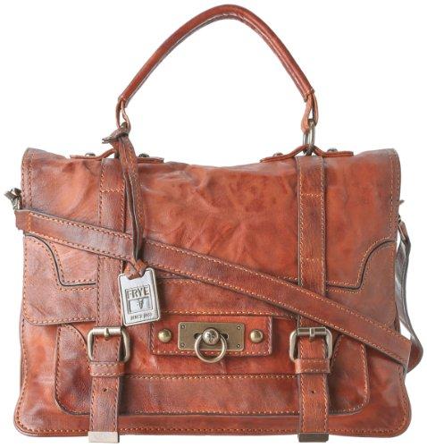 FRYE Cameron Satchel Handbag,Cognac,one size