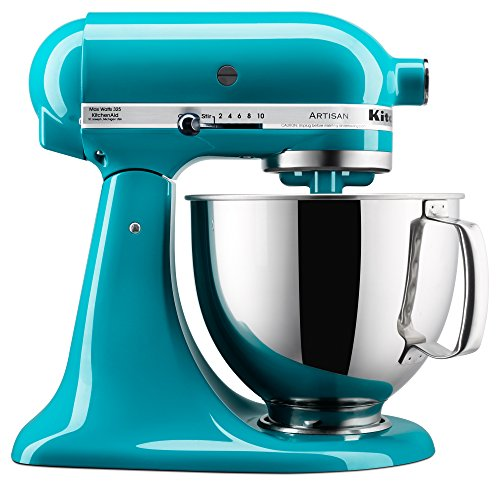 KitchenAid KSM150PSON Artisan Series Stand Mixer with Pouring Shield, 5 quart, Ocean Drive (Kitchenaid Blender Ice Blue compare prices)