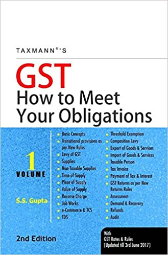 GST-How to Meet Your Obligations taxmann GST Book