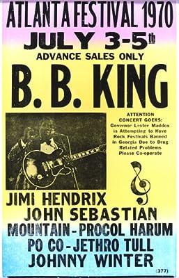 "B.B. King Atlanta Festival 1970 14"" X 22"" Vintage Style Concert Poster"
