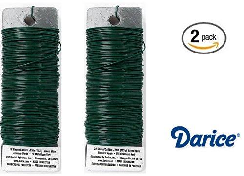 set-of-2-darice-paddle-wire-22-gauge-green