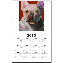 CafePress A French Bulldog Calendar Print - Standard made by CafePress