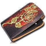 Handy Tasche Case Flip f�r Samsung Galaxy Fame GT-S6810 / GT-S6810P / H�lle Etui Handytasche Schutzh�lle JS M25