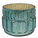 GolMaalShop Glass Candle Holder Slim (4.4 X 11.4 Inches, Silver) - B00R16KSX0