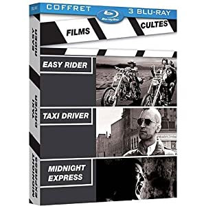 Films cultes - Coffret - Easy Rider + Taxi Driver + Midnight Express [Blu-ray]