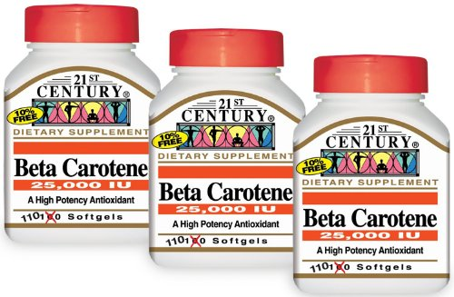 Beta Carotene 25,000 IU - 110 softgels,(21st Century)