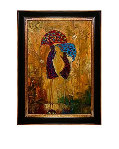 "Justyna Kopania ""Rain (Afternoon Chat)"" Framed Giclée on Canvas"