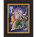 Avercart Lord Krishna / Shri Krishna With Radha / Symbol Of Divine Love / Sri Radha-Krishna Poster 5x7 Inch With...
