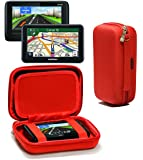 Navitech Red Hard Carry Case Cover For The Garmin nuvi 2595LMT 5""