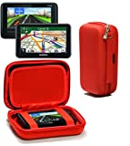 Navitech Red Hard Carry Case Cover For The TomTom XXL Classic 5