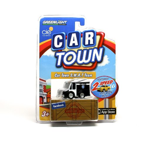CAR TOWN S.W.A.T. Team * 2 Speed Pull-Back Motor * 2013 Car Town Series 2 Greenlight Collectibles Vehicle - 1