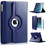 360 ROTATING FLIP LEATHER CASE COVER FOR THE NEW IPAD MINI (BBBLUE)