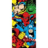 Marvel Comics Heroes Spiderman Wolverine Beach Bath Cotton Towel