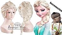 Anangel® Free Hair Cap+ Princess Frozen Snow Queen Beige Elsa Wig Snow Queen Cosplay Convention Costume Wigs from Anangel