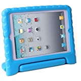 HDE Kids Light Weight Shock Proof Handle Case for iPad Mini / Mini 2 / Mini 3 (Blue)