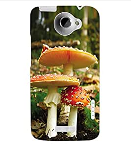 ColourCraft Beautiful Mushrooms Design Back Case Cover for HTC ONE X