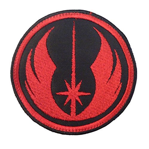 Jedi Order Star Wars Red Embroidered Velcro Toppa Patch