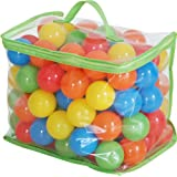 FIELDOOR カラーボール 100個入り 直径5.5cm 【やわらかポリエチレン製】 (プール/ボールプール/ボールハウス用)